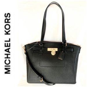 b0c1a34db9f940 Michael Kors Bags | Nwt Authentic Mk Leather Large Hamilton Satchel ...